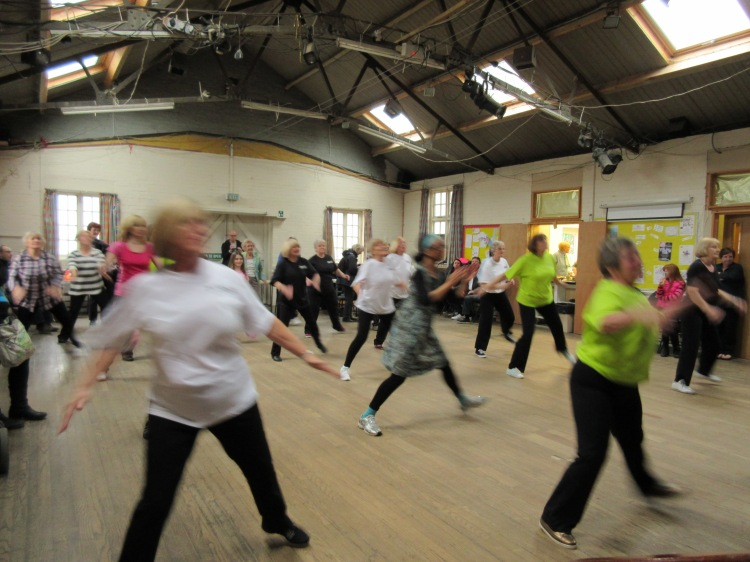 One of the many classes held in the Village Hall