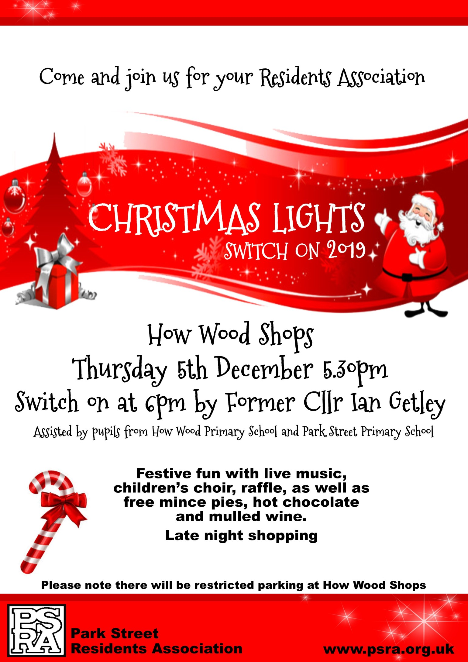 PSRA Christmas Lights Switch on 2019